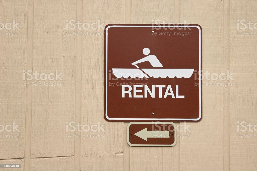 Boat Rental Sign royalty-free stock photo