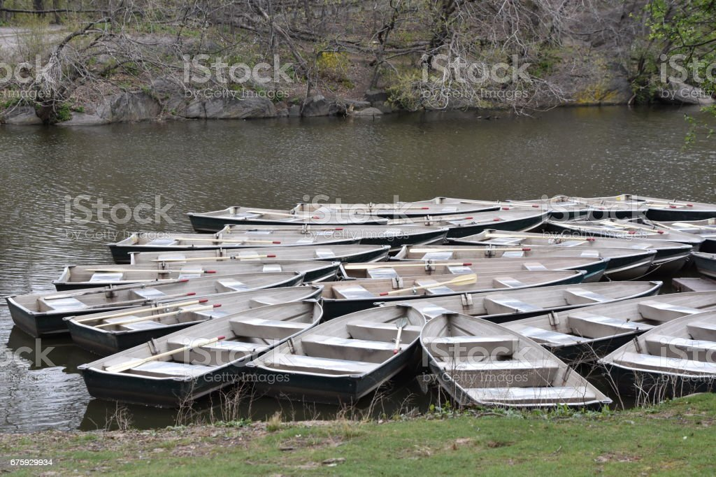 Boat Rentals In Central Park Stock Photo - Download Image