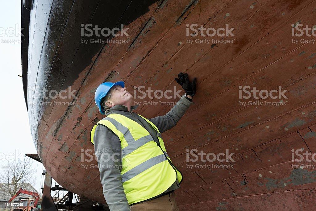 Boat Repair Yard stock photo