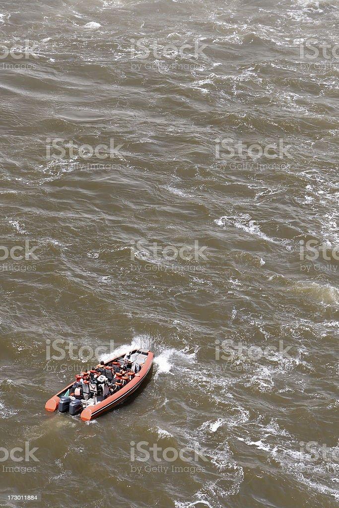 Boat ride Iguacu falls royalty-free stock photo