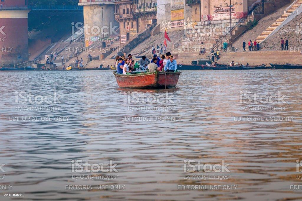 Boat riding royalty-free stock photo