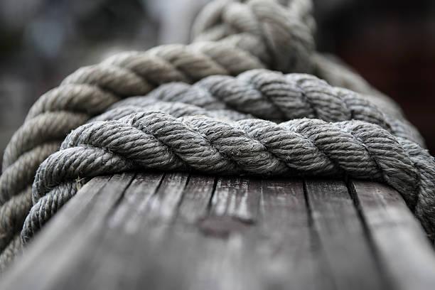 Boat rope stock photo