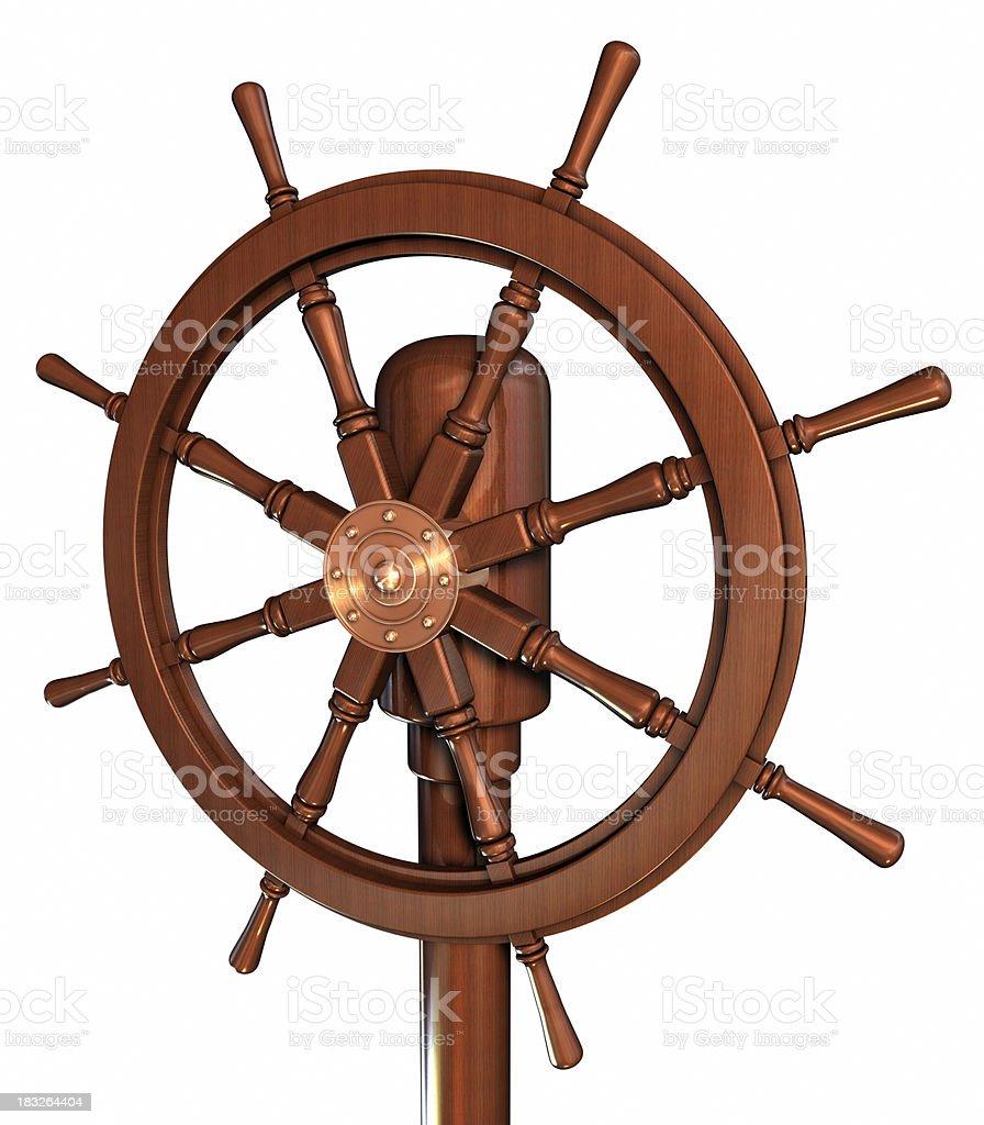 Boat rudder royalty-free stock photo