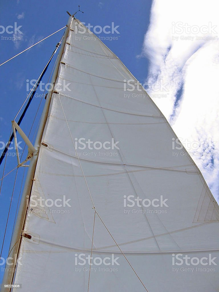 Boat Sail (perspective looking up) royalty-free stock photo