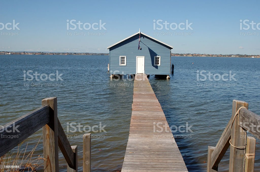 Boat Shed. stock photo