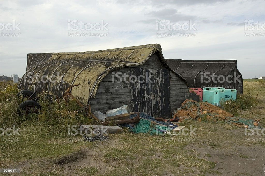 Boat sheds royalty-free stock photo