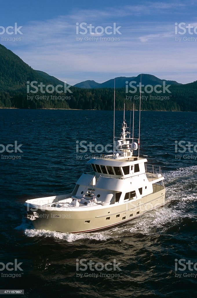 Boat Ship Trawler Vancouver Island stock photo