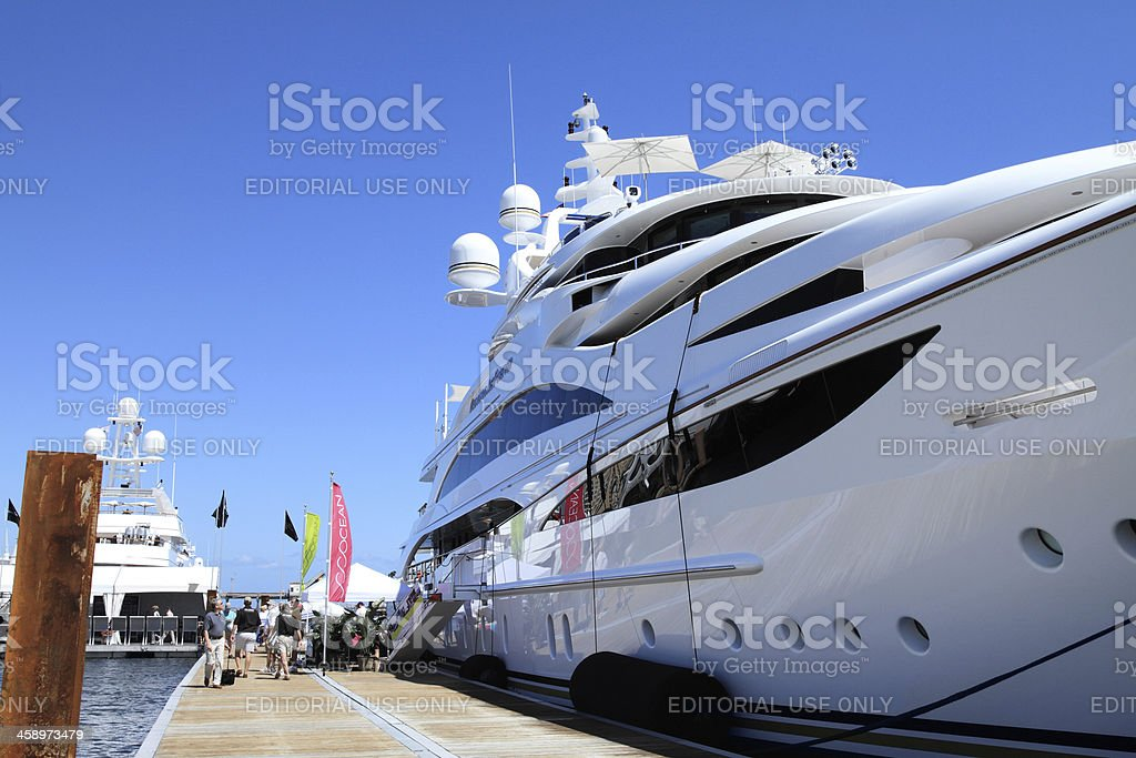 Boat show in West Palm Beach royalty-free stock photo