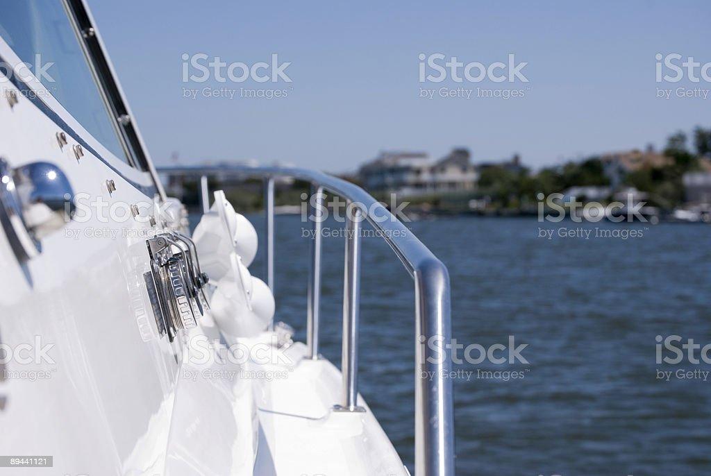 Côté en bateau photo libre de droits