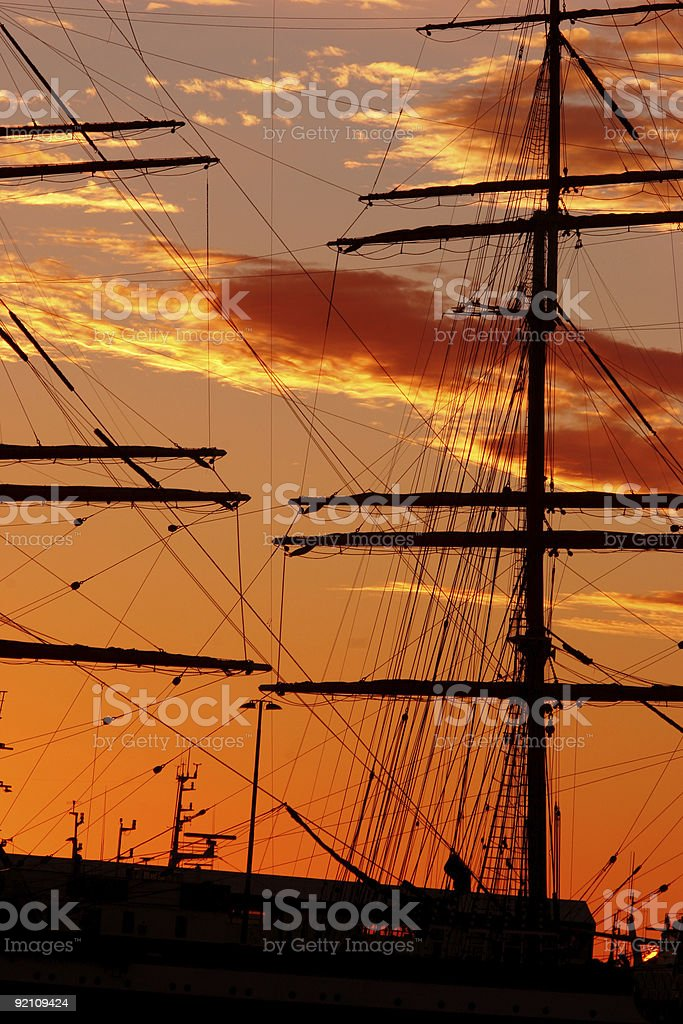 Boat silhouette royalty-free stock photo