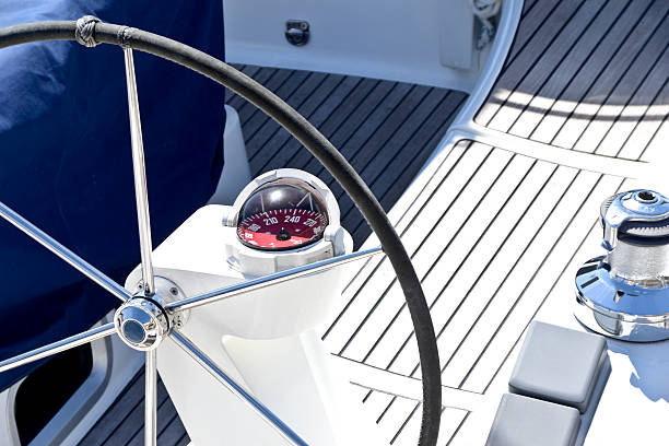 łódź stacji sterowania - ster fragment pojazdu zdjęcia i obrazy z banku zdjęć