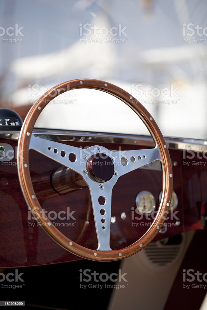 Boat Steering Wheel Stock Photo - Download Image Now - iStock
