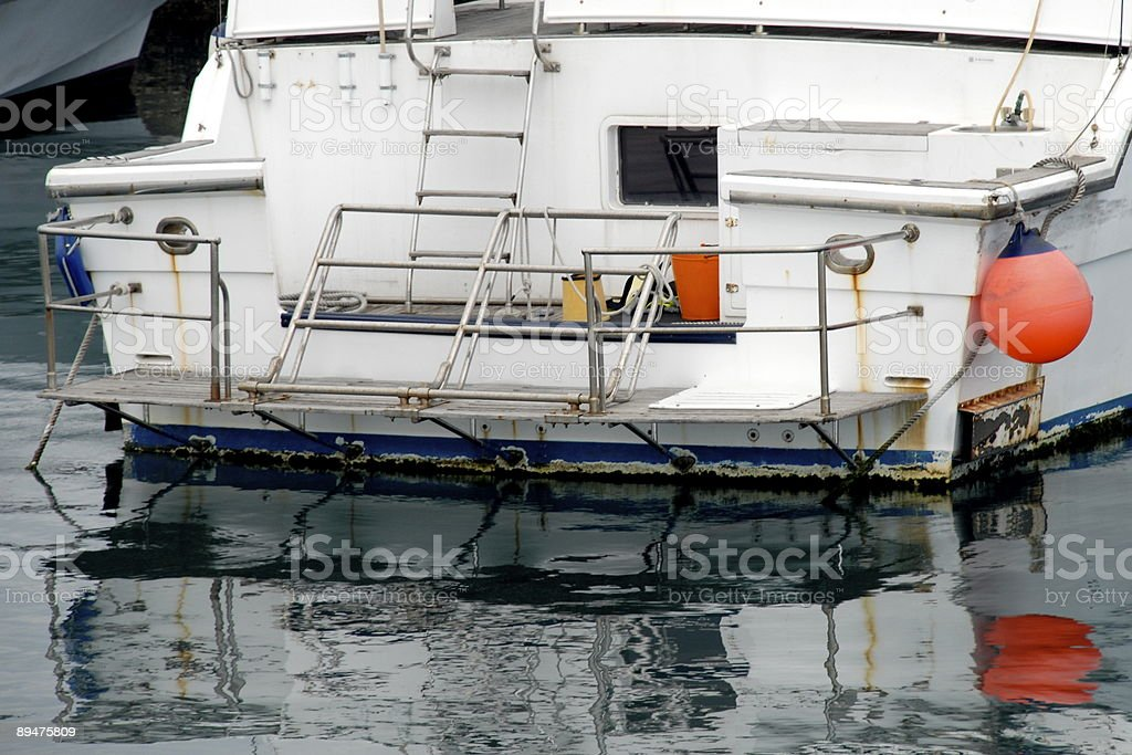 Boat Stern royalty-free stock photo