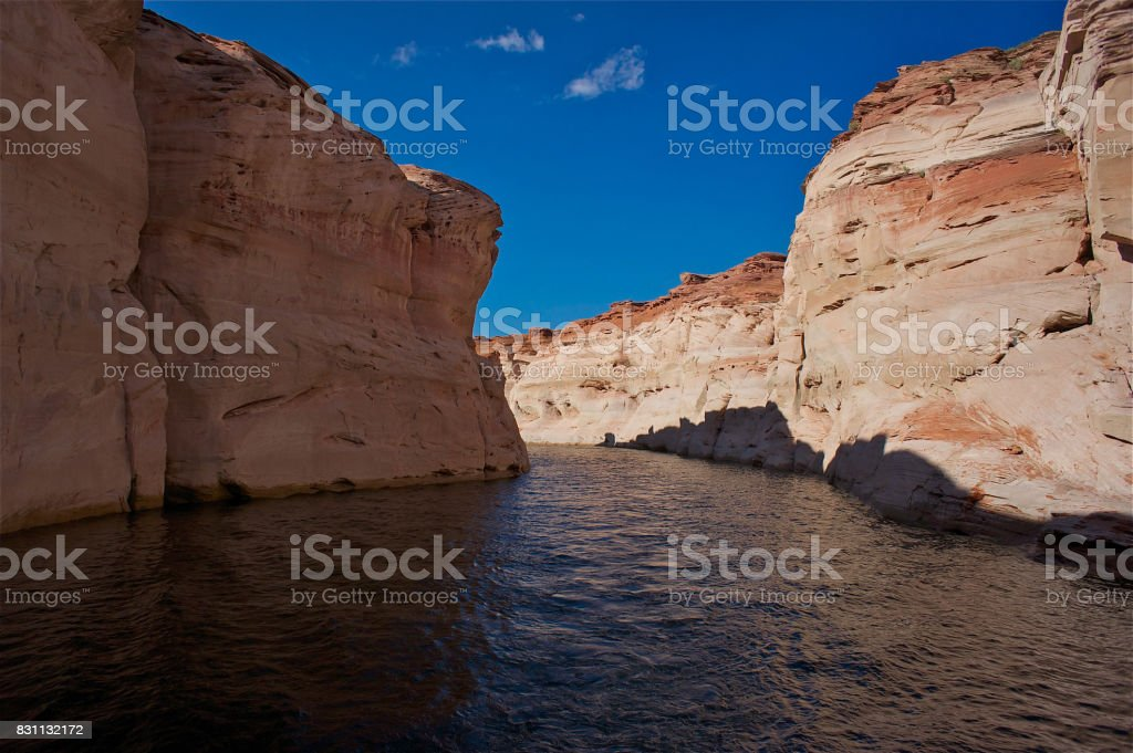 Boat tour on Lake Powell stock photo