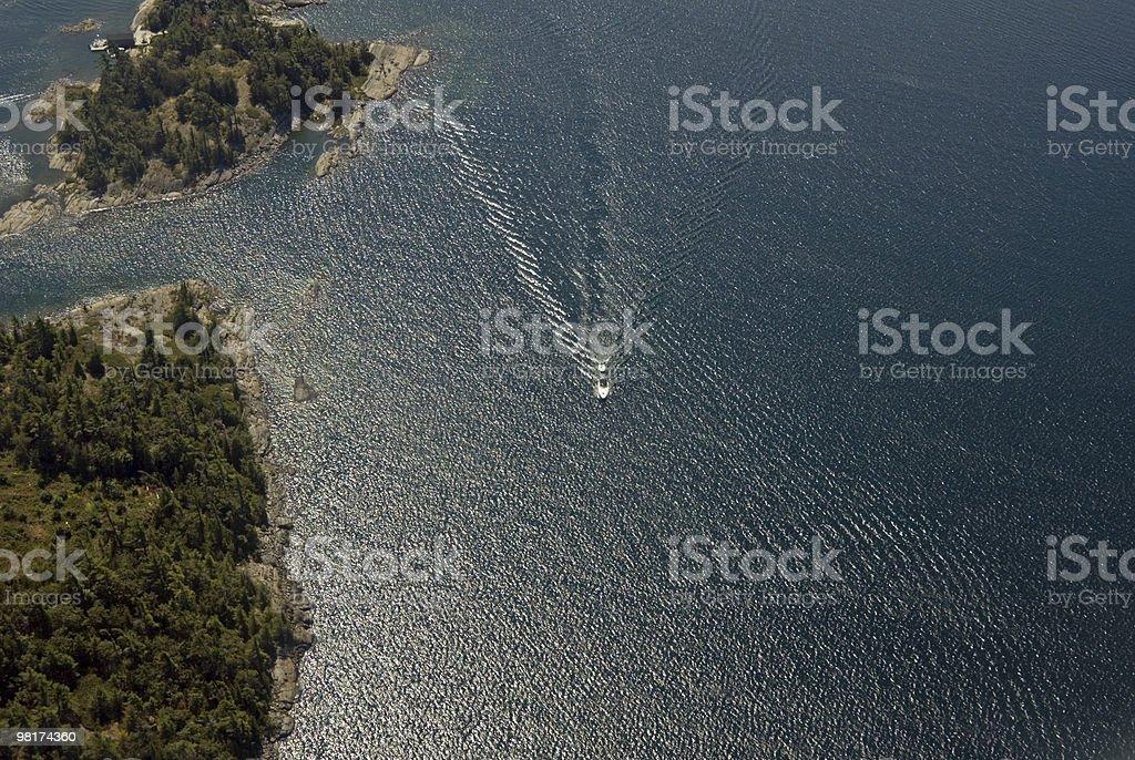 boat tracks royalty-free stock photo