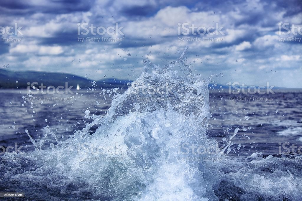 Boat Trail Splash royalty-free stock photo