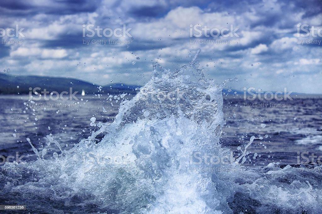 Boat Trail Splash stock photo