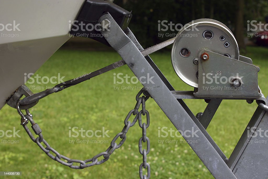 Boat Trailer Winch royalty-free stock photo