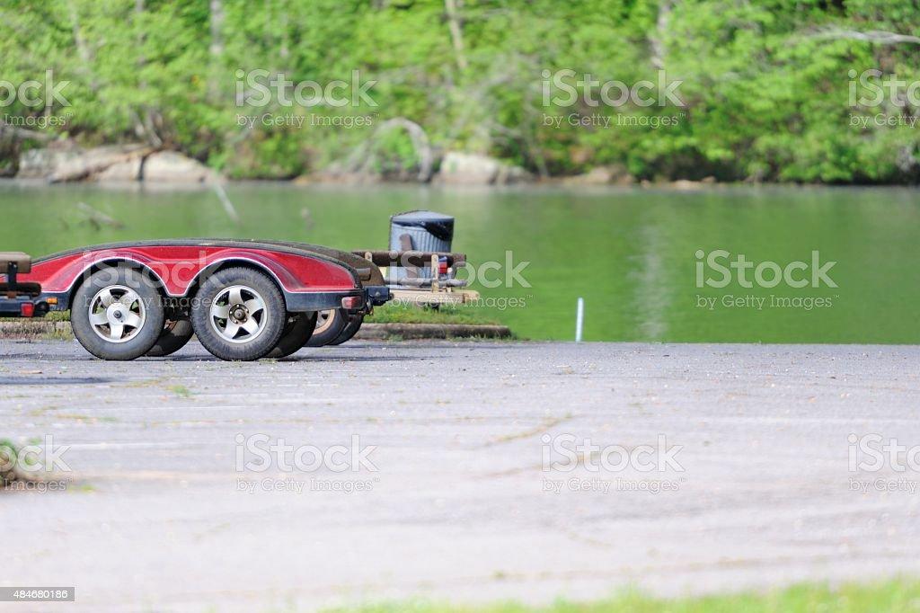 Boat trailers stock photo