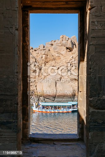 Built to honour the goddess Isis, this was the last temple built in the classical Egyptian style, Aswan, Egypt December 2nd 2019