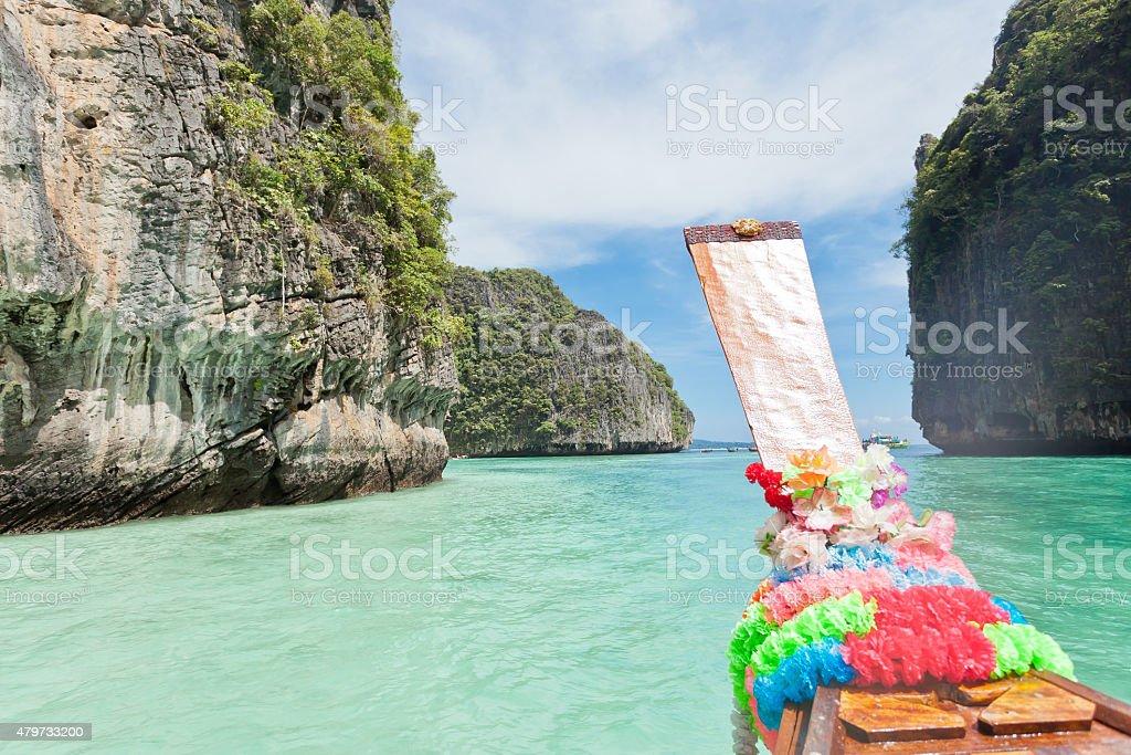 Boat trip to Ko Phi Phi Le stock photo
