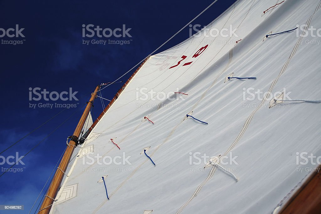Boat - Under canvas royalty-free stock photo