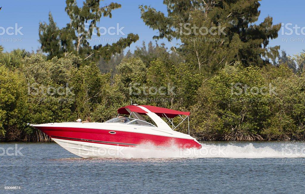 Boat Underway royalty-free stock photo