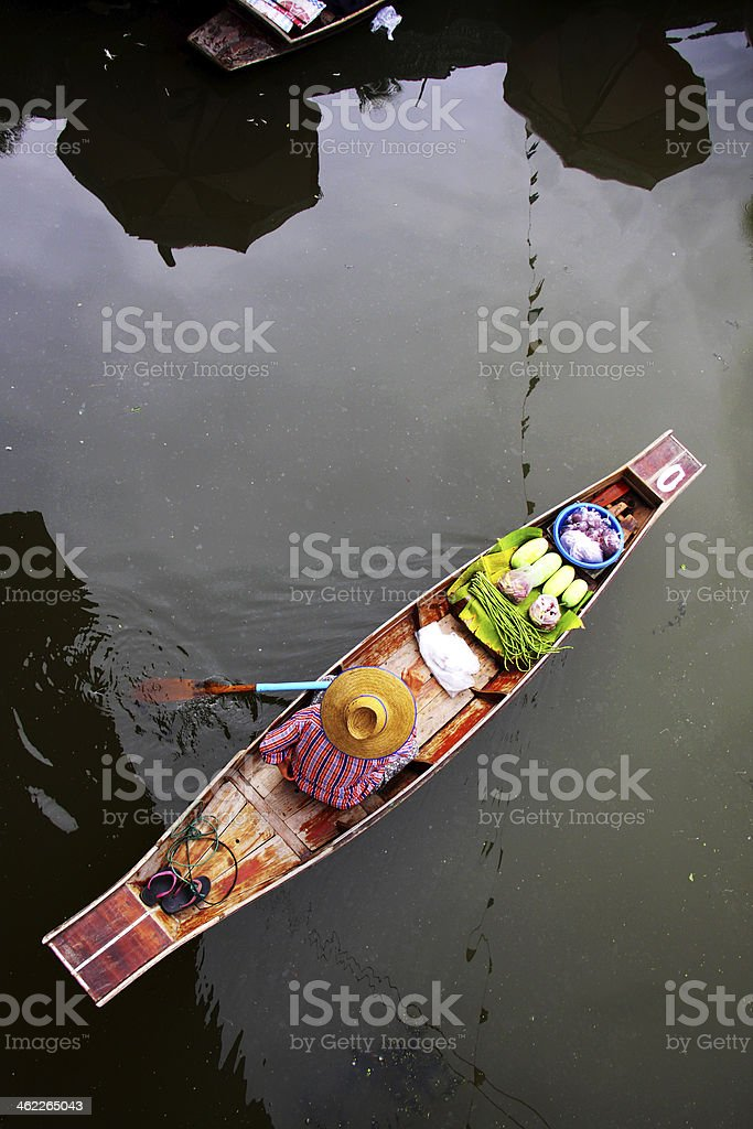 boat vendor stock photo