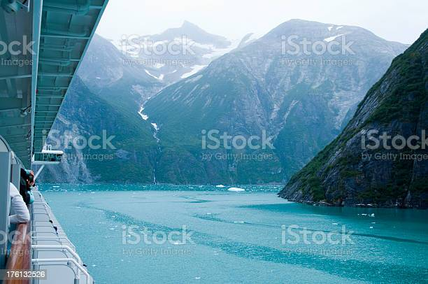 Boat view of Tracy Arm Fjord in Alaska