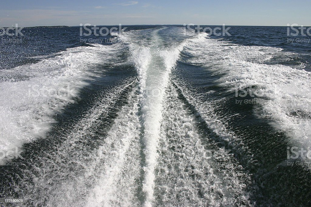 Boat Wake royalty-free stock photo