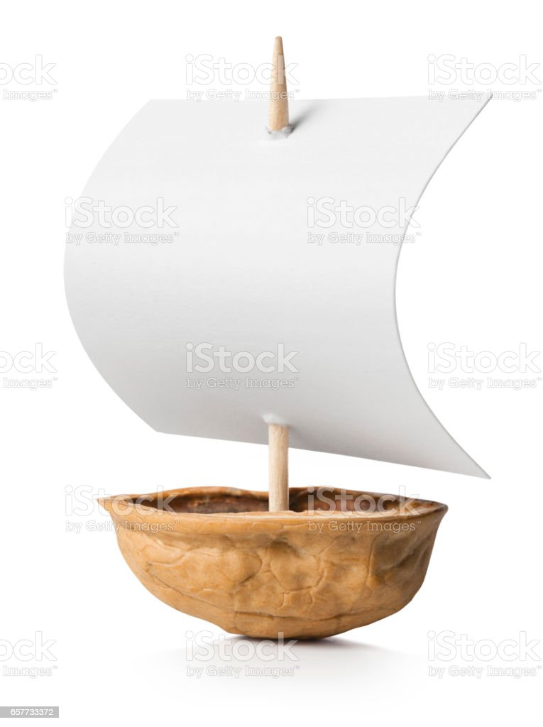 Boat walnut stock photo