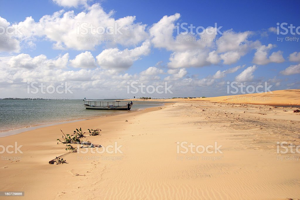 Boat wating for you in Tropical Beach, Island (Brazil) royalty-free stock photo