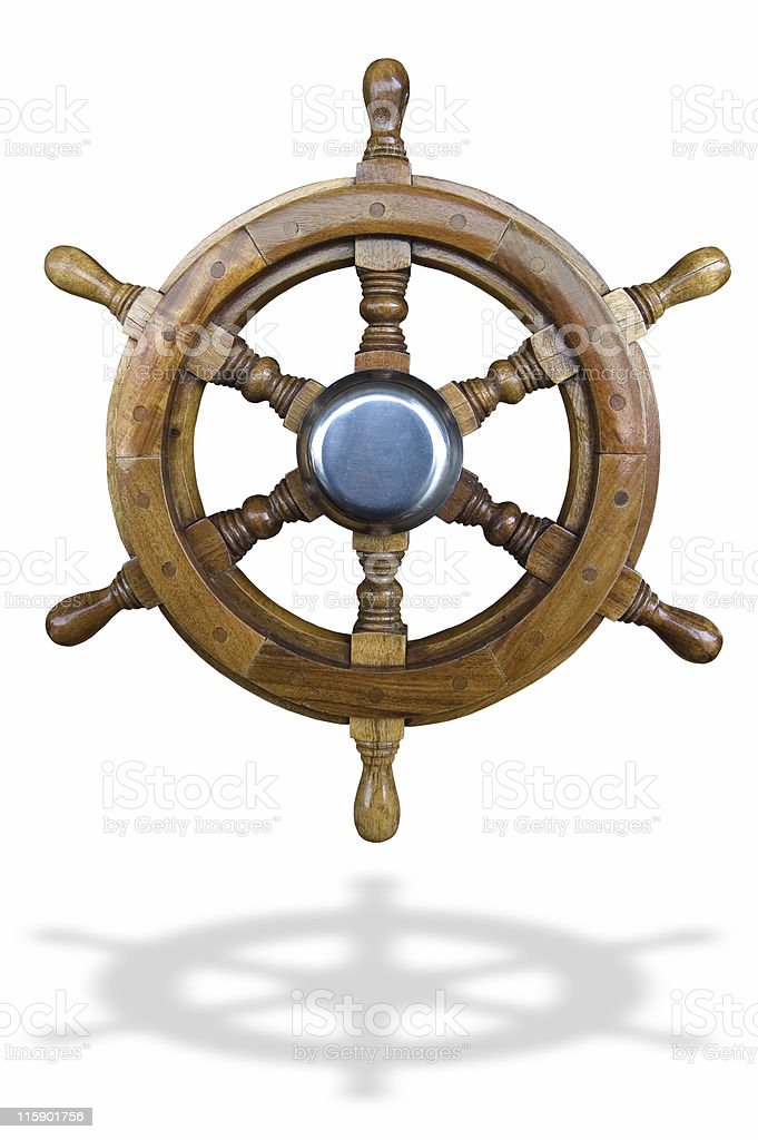 boat wheel (w/clipping path) royalty-free stock photo