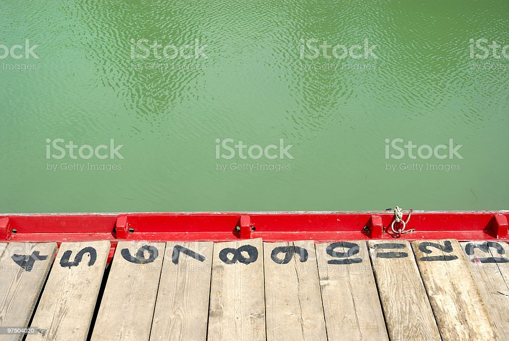 boat with numbers royalty-free stock photo