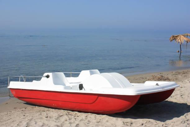 Barco con pedales - foto de stock