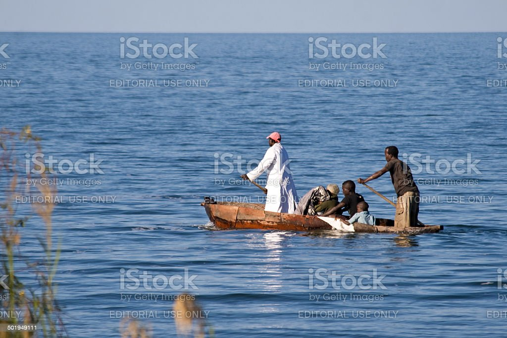 Boat with people stock photo