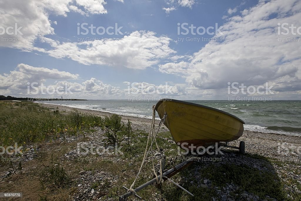 Boat without owner royalty-free stock photo