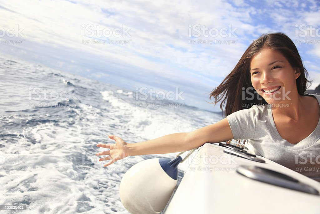 Boat woman stock photo