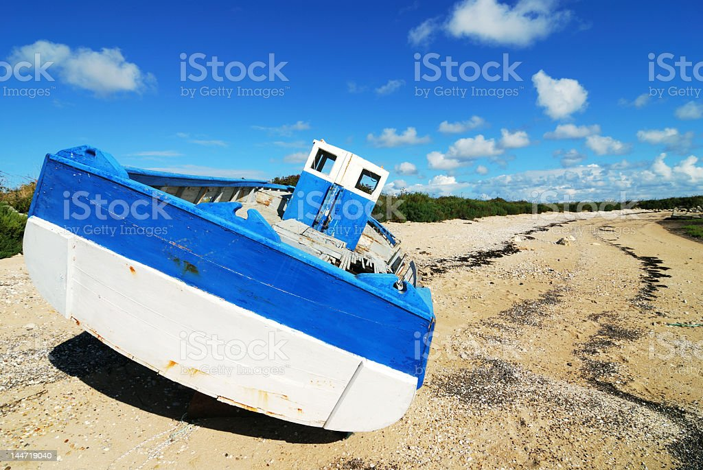 Boat wreck #4 royalty-free stock photo