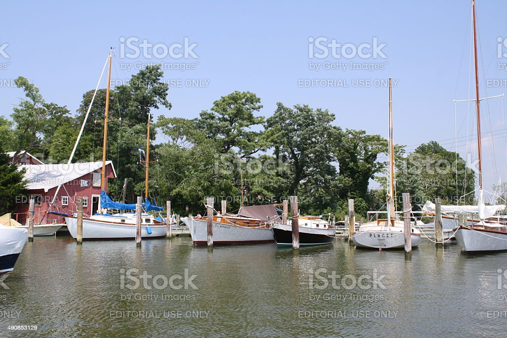 Boat Yard View One stock photo
