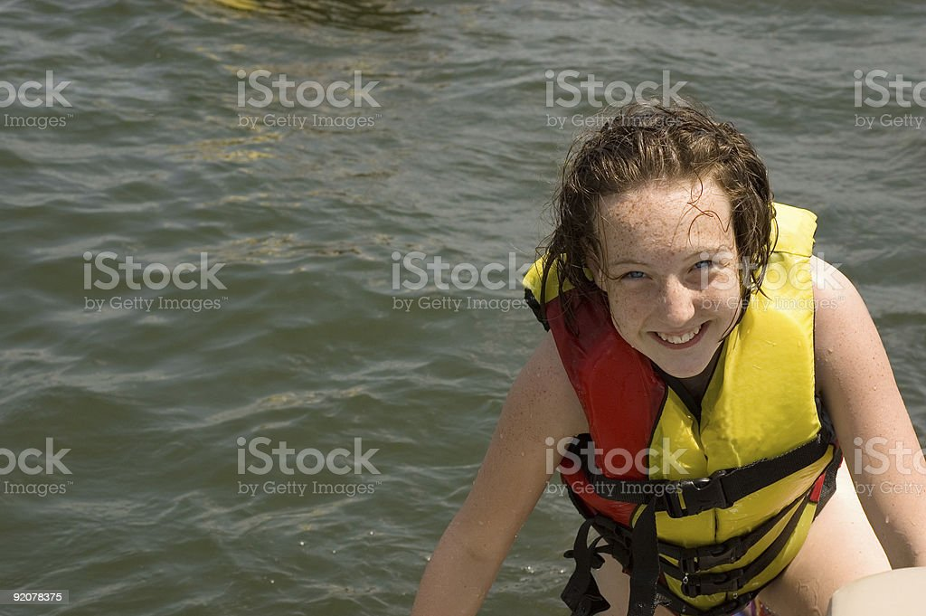 boater girl royalty-free stock photo