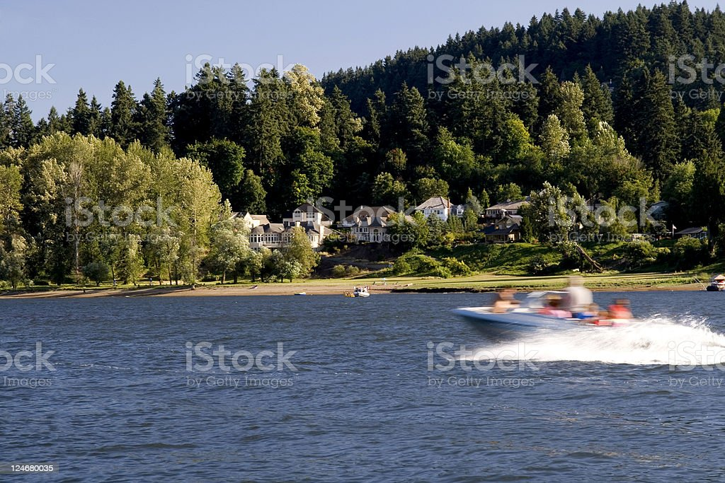 Boaters Speed By royalty-free stock photo