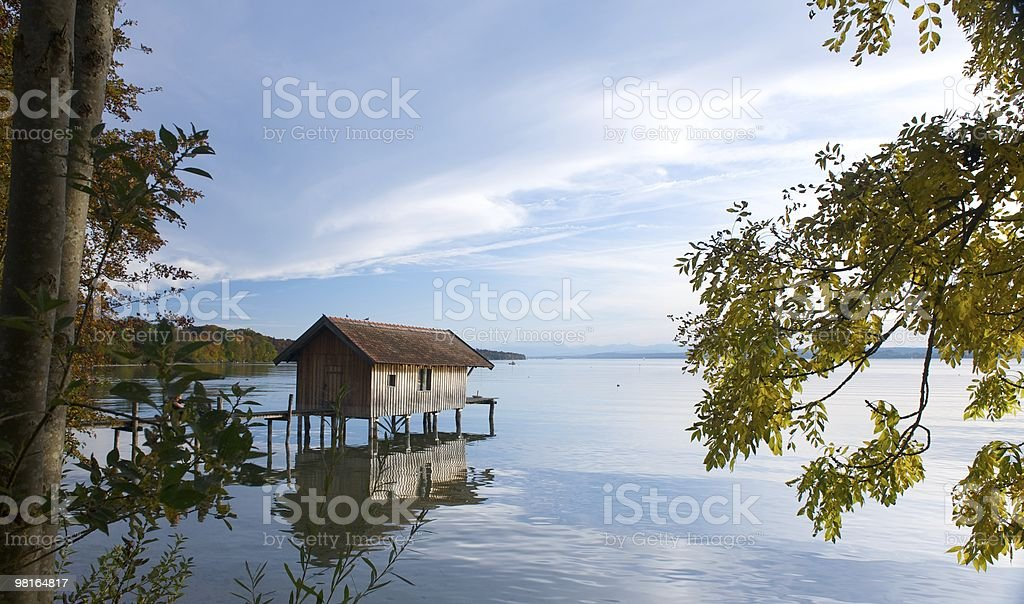 Bootshaus am Ammersee royalty-free stock photo