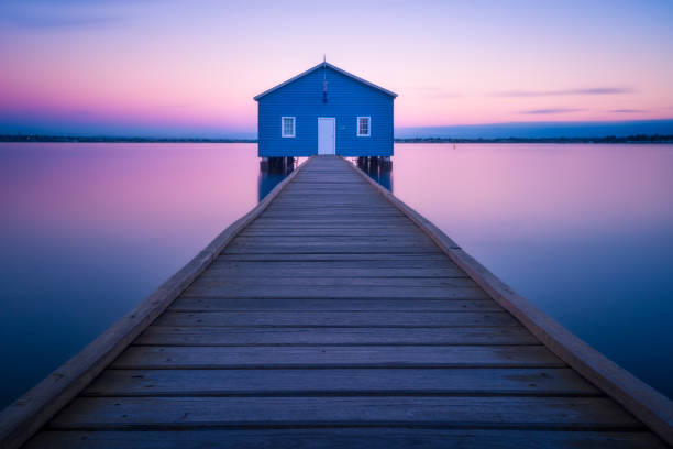 boathouse - western australia stock pictures, royalty-free photos & images
