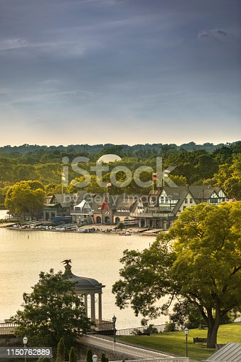 19th-century boat houses line the Schuylkill River