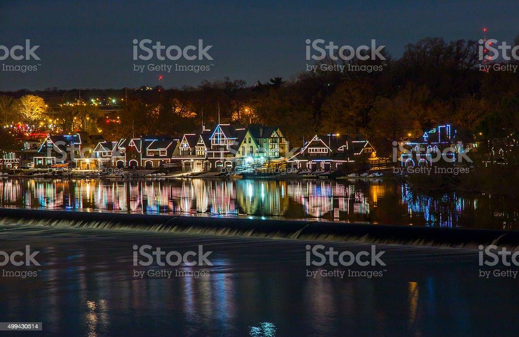 Boathouse Row of Philadelphia stock photo