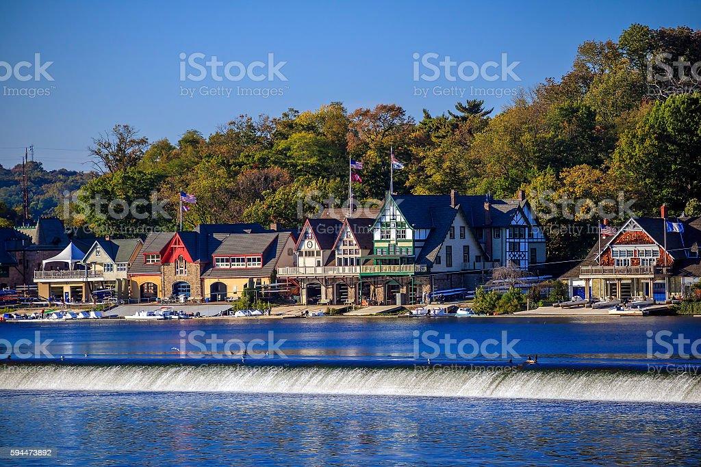 Boathouse Row stock photo