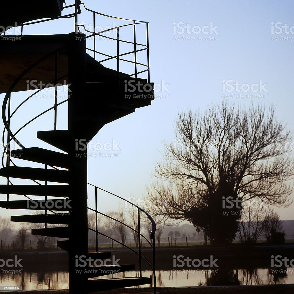 Boathouse Steps at Oxford. England royalty-free stock photo