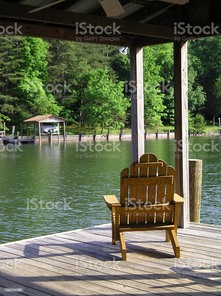 Boathouse View royalty-free stock photo