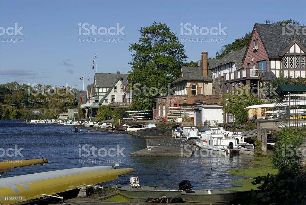 Boathouses stock photo